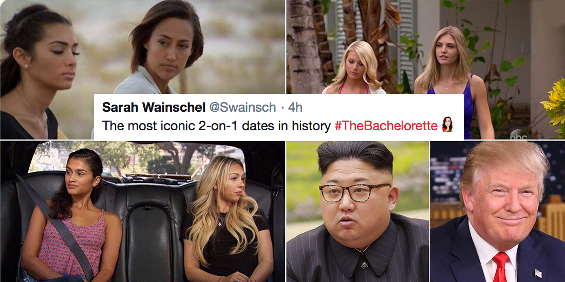Trump Interrupts The Bachelorette Tweet